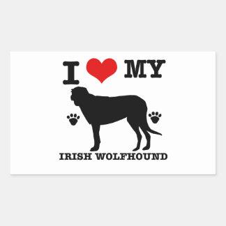 I Love my irish wolfhound Stickers