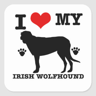 I Love my  irish wolfhound Sticker