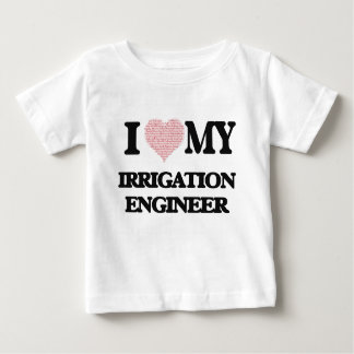 I love my Irrigation Engineer (Heart Made from Wor T-shirts
