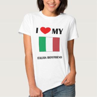 I Love My Italian Boyfriend Baby Doll Shirts