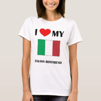 I Love My Italian Boyfriend Baby Doll T-Shirt