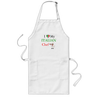 I Love My Italian Chef Long Apron