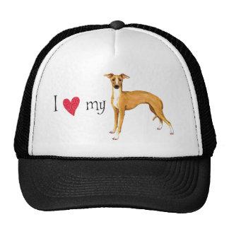 I Love my Italian Greyhound Cap