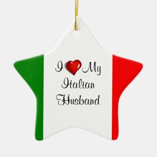 I Love My Italian Husband Christmas Ornament