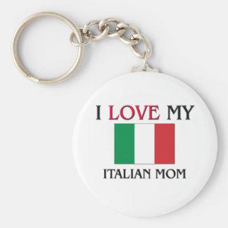 I Love My Italian Mom Basic Round Button Key Ring
