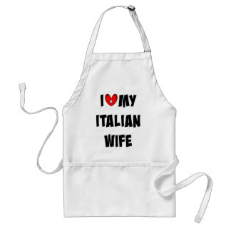 I Love My Italian Wife Standard Apron