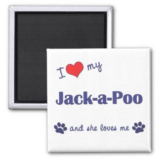 I Love My Jack-a-Poo (Female Dog) Magnet