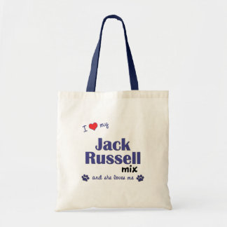 I Love My Jack Russell Mix (Female Dog) Tote Bag