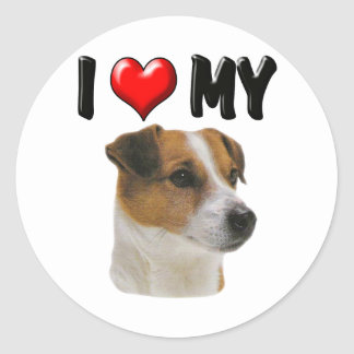 I Love My Jack Russell Stickers