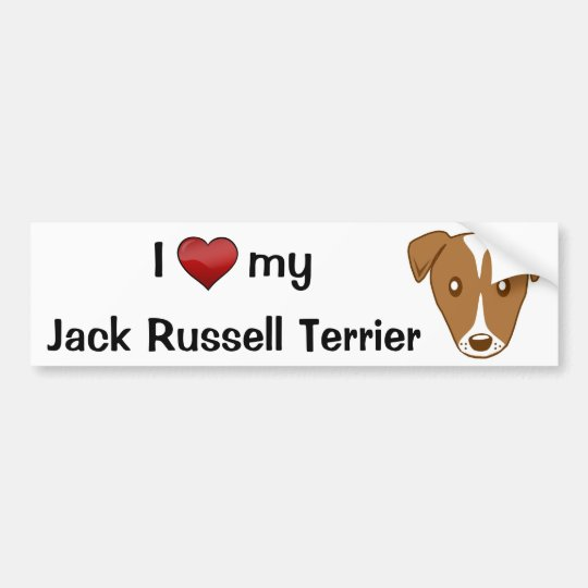 I love my Jack Russell Terrier Bumper Sticker