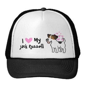 I Love My Jack Russell Terrier Cap