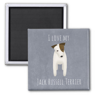 I love my Jack Russell Terrier cute dog head tilt Magnet