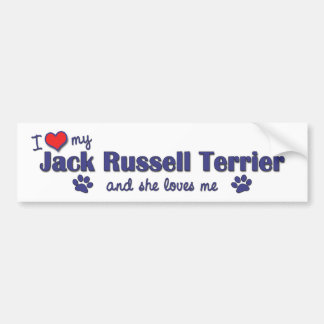 I Love My Jack Russell Terrier (Female Dog) Bumper Sticker