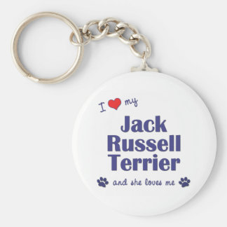 I Love My Jack Russell Terrier (Female Dog) Key Ring