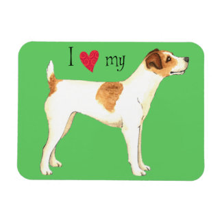 I Love my Jack Russell Terrier Magnet