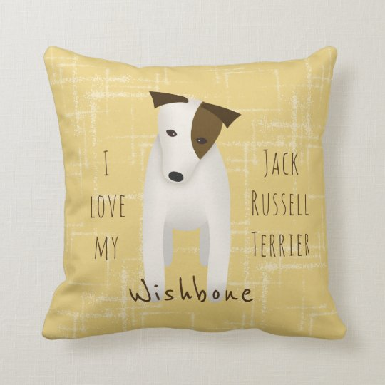 I love my Jack Russell Terrier reversible Cushion