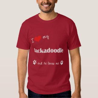 I Love My Jackadoodle (Male Dog) T Shirts