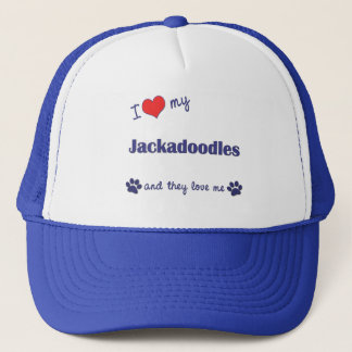 I Love My Jackadoodles (Multiple Dogs) Cap