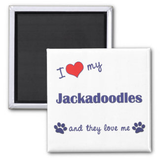 I Love My Jackadoodles (Multiple Dogs) Magnet