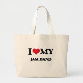 I Love My JAM BAND Jumbo Tote Bag