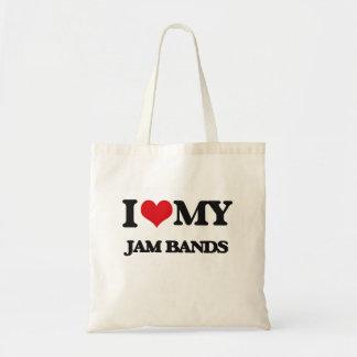 I Love My JAM BANDS Tote Bag