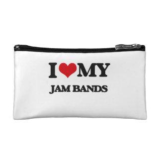 I Love My JAM BANDS Makeup Bags