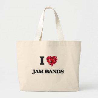 I Love My JAM BANDS Jumbo Tote Bag