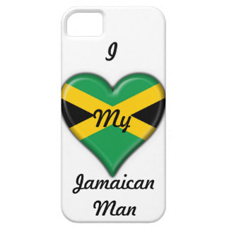 """""""I Love My Jamaican Man"""" Phone Case: Flag Heart Case For The iPhone 5"""