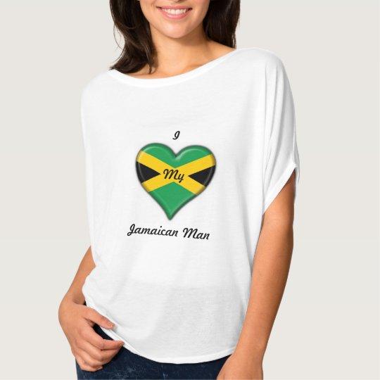 """I Love My Jamaican Man"" Women's - T- Shirt"