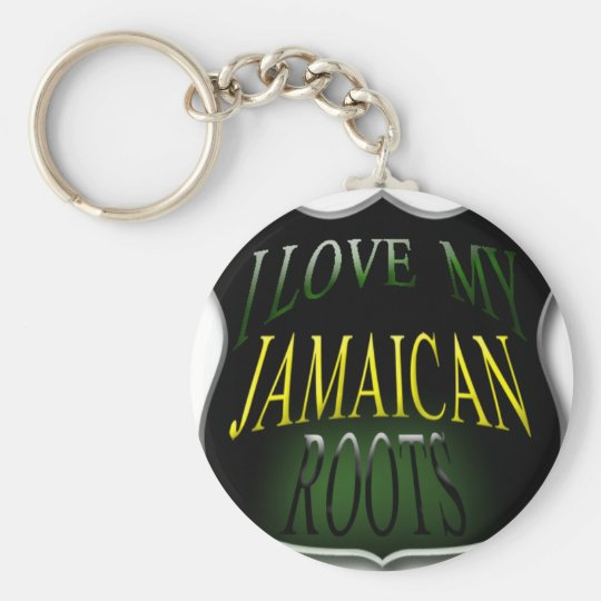 I Love My Jamaican Roots Keychain