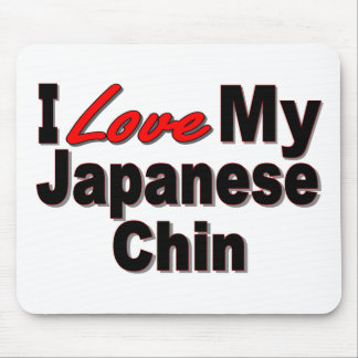 I Love My Japanese Chin Dog Gifts and Apparel Mouse Pad