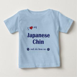 I Love My Japanese Chin (Female Dog) Infant T-Shirt