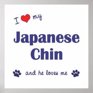 I Love My Japanese Chin (Male Dog) Print