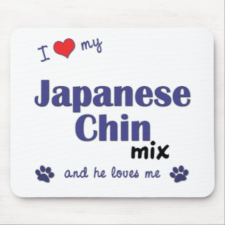 I Love My Japanese Chin Mix (Male Dog) Mouse Pad
