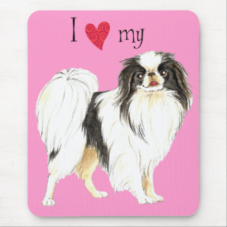 I Love my Japanese Chin Mouse Pad