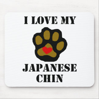 I Love My Japanese Chin Mouse Pads