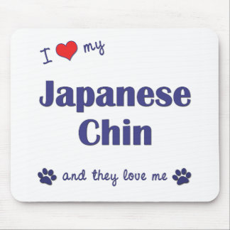 I Love My Japanese Chin (Multiple Dogs) Mouse Pad