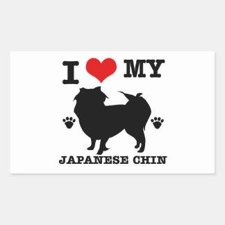 I Love my Japanese Chin Rectangular Sticker
