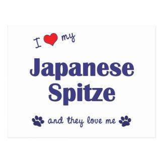 I Love My Japanese Spitze (Multiple Dogs) Postcard