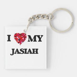 I love my Jasiah Double-Sided Square Acrylic Key Ring