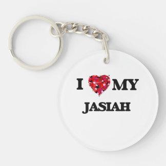 I love my Jasiah Single-Sided Round Acrylic Key Ring