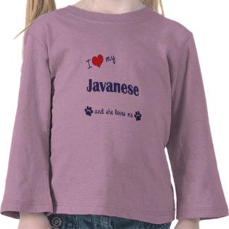 I Love My Javanese (Female Cat) T Shirts