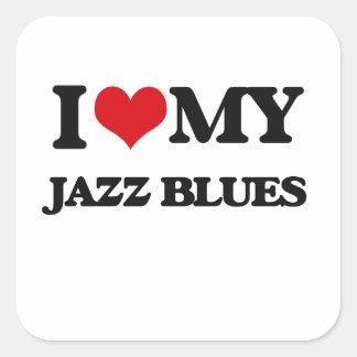 I Love My JAZZ BLUES Sticker