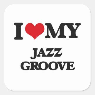 I Love My JAZZ GROOVE Stickers