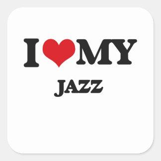 I Love My JAZZ Sticker