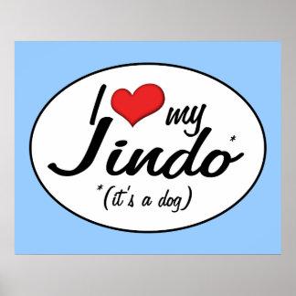 I Love My Jindo (It's a Dog) Print