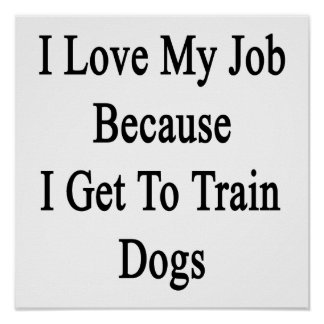 I Love My Job Because I Get To Train Dogs Posters