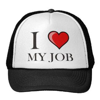 I love my job mesh hat