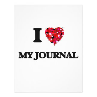 I Love My Journal 21.5 Cm X 28 Cm Flyer