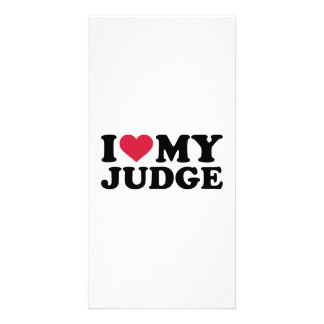 I love my Judge Personalized Photo Card
